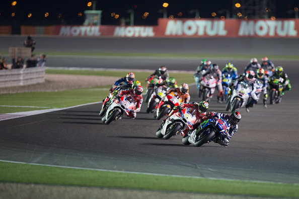 Jorge Lorenzo leads the race | Photo: Mirco Lazzari