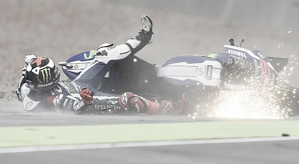 Lorenzo expereinced several crashes at the Sachsenring - www.motorsport.com