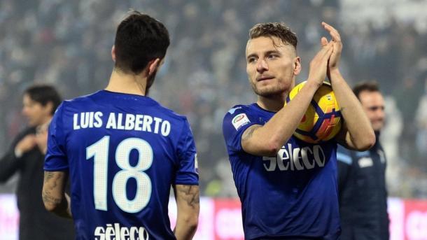 Los dos protagonistas del encuentro   Foto: SS Lazio