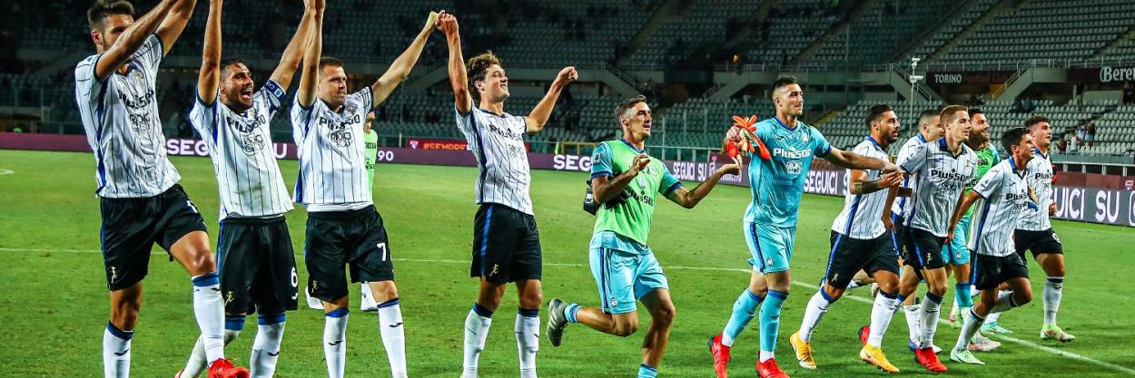 Los jugadores de la Atalanta celebrando una victoria frente al Torino   Fuente: @Atalanta_BC