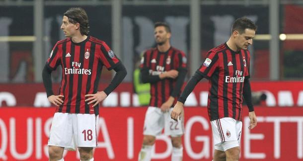 Los rossoneri cayeron derrotados en casa en la última jornada | Foto: AC Milan