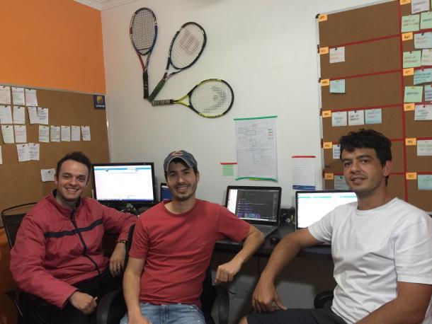 Paulo Schiavon, Paulo Henrique Facchini e Rafael Fachin Soares/ Foto: Lptennis/ Divulgação