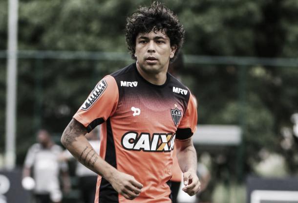 Luan no treino desta segunda-feira, na Cidade do Galo (Foto: Bruno Cantini/Atlético-MG)