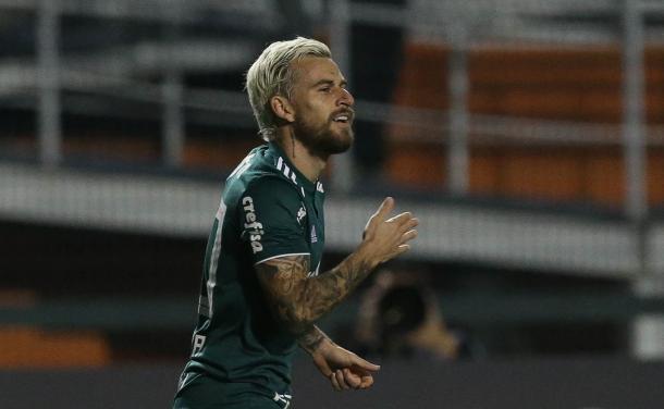 Lucas Lima parece ter recuperado seu bom futebol na retomada da Copa (Foto: Cesar Greco/SE Palmeiras/Divulgação)