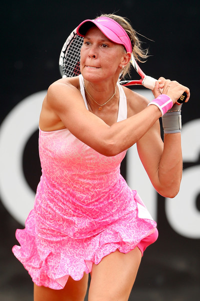 Lucie Hradecka in 2015 Rio Open action. Photo: Matthew Stockman/Getty Images