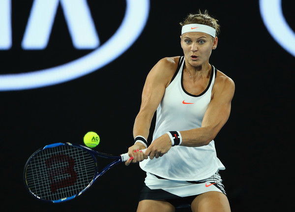 Lucie Safarova in action at the 2017 Australian Open, being vanquished by eventual champion Serena Williams | Photo: Clive Brunskill/Getty Images AsiaPac