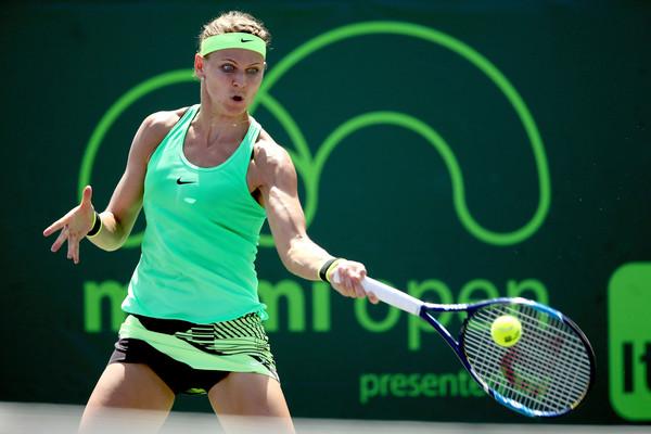 Lucie Safarova reached the quarterfinals in Miami, defeating Dominika Cibulkova along the way | Photo: Matthew Stockman/Getty Images North America