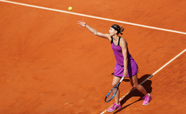 Lucie Safarova in action in Rome. Photo: Matthew Lewis/Getty Images