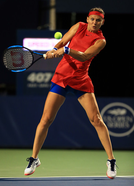 Lucie Safarova in action during her first round match | Photo: Vaughn Ridley/Getty Images North America