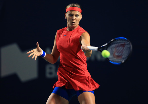 Lucie Safarova in action during her first round match   Photo: Vaughn Ridley/Getty Images North America