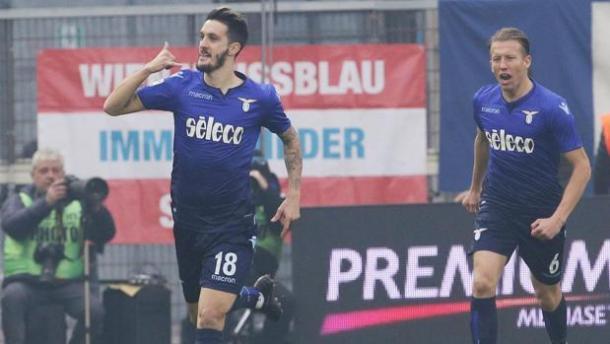 Luis Alberto celebra su golazo   Foto: SS Lazio