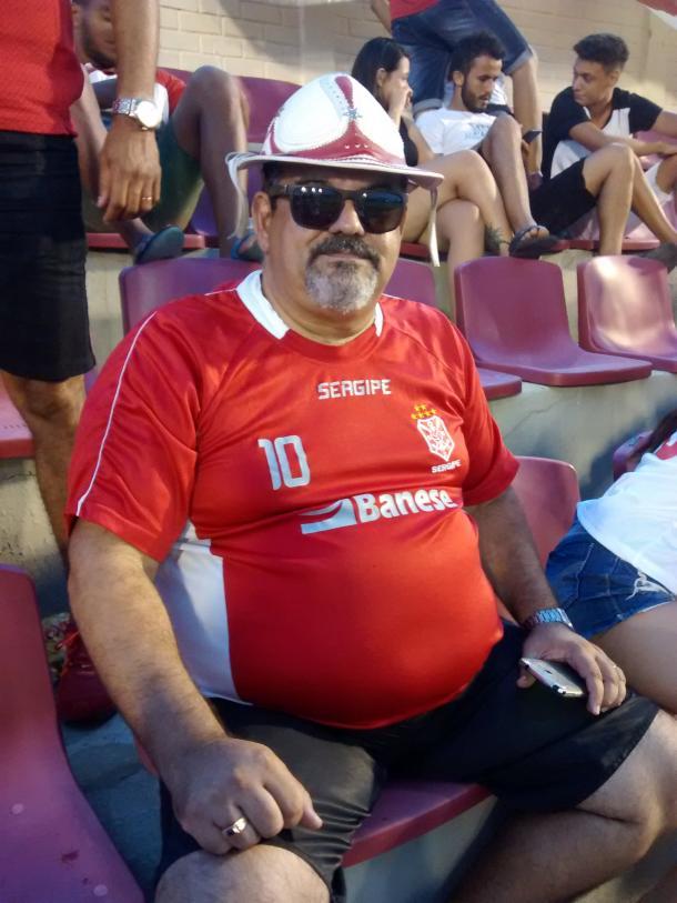 Antonio Barreto, torcedor fanático do Gipão