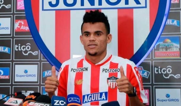 Luis Díaz presentado como nuevo jugador del Junior   Fuente Junior Club SA