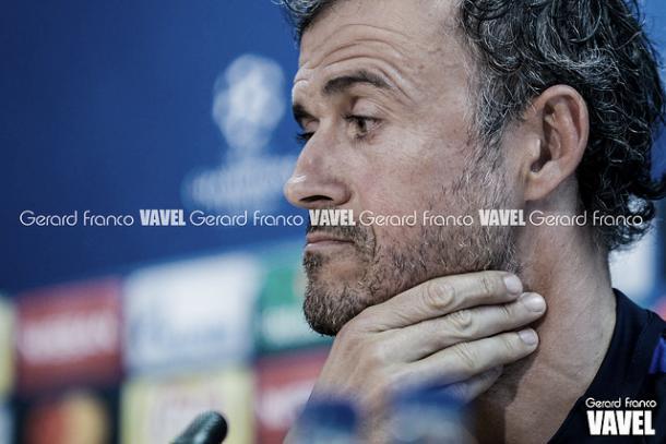 Luis Enrique en rueda de prensa   Foto: Gerard Franco - VAVEL
