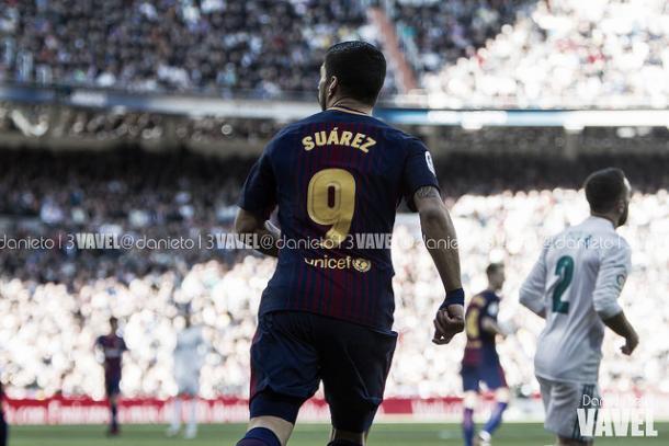 Luis Suárez vuelve a marcar en el Bernabéu   Foto: Dani Nieto - VAVEL