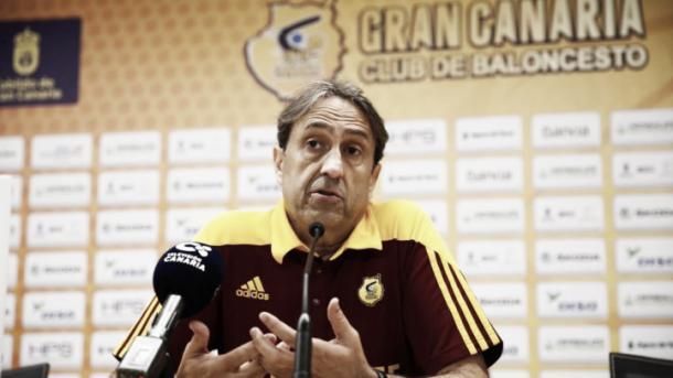 Luis Casimiro prevé un partido disputado/ Foto: Herbalife Gran Canaria