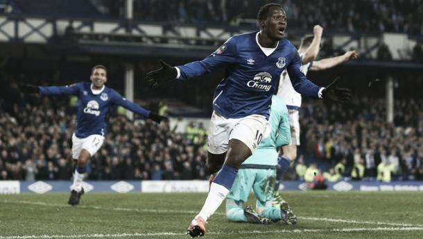 Above: Romelu Lukau celebrating in Chelsea's 2-0 defeat to Everton| Photo: ITV Sport