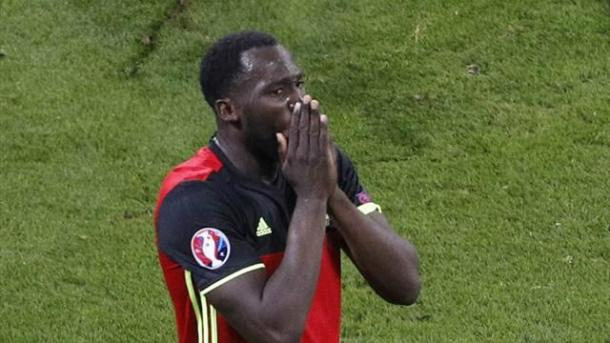Romelu Lukaku was kept very quiet throughout the game (Picture from Eurosport)