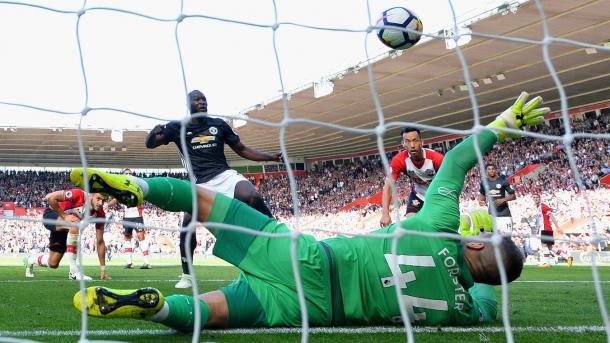 Lukaku marcó la única diferencia del encuentro | Foto: Premier League.