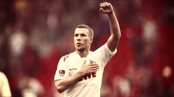 Podolski en el Colonia. Foto: VAVEL.com