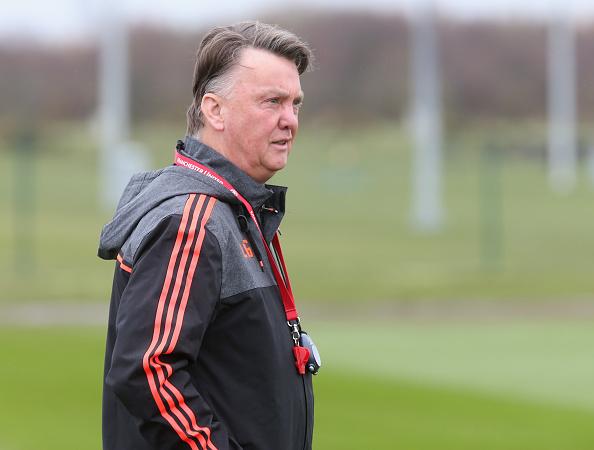 Louis van Gaal in training ahead of last week's tie | Photo via Getty Images