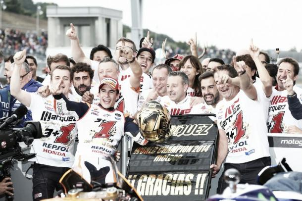 Repsol Honda Team gana en Motegi en 2014   Foto: Repsol Honda Team