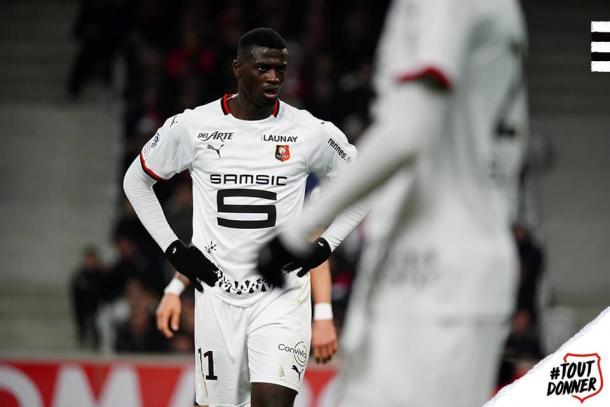 M'baye Niang, estrella del Rennes. Foto: Twitter @staderennais