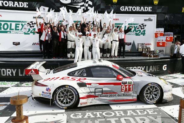 Primeira vitória veio nos EUA em Daytona 2014. (Foto: Porsche AG)