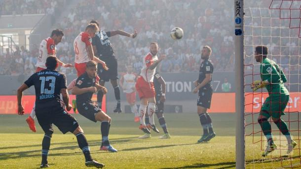 Regensburg had taken the lead through Lais' header. | Image credit: Bundesliga.de