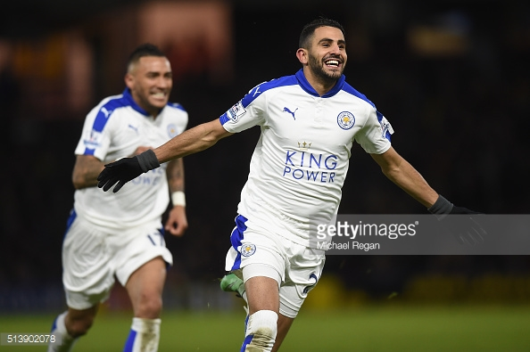 Riyad Mahrez has rediscovered his form from last season. (Photo credit: Michael Regan/Getty Images)