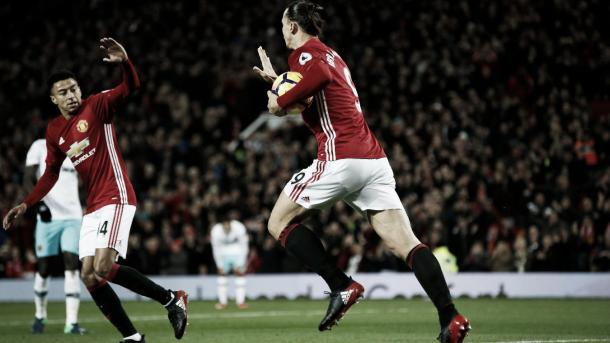 Ibrahimovich anotó el gol del empate. Foto: Premier League.