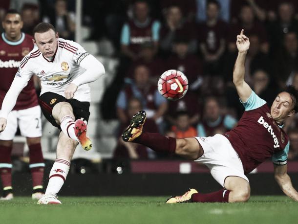 Partido entre el West Ham y el Manchester United. Foto : Getty Images.