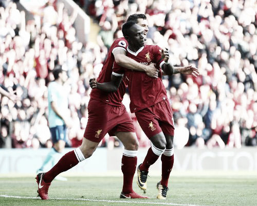 El Liverpool no paraba de recuperar balones. Foto: Liverpool