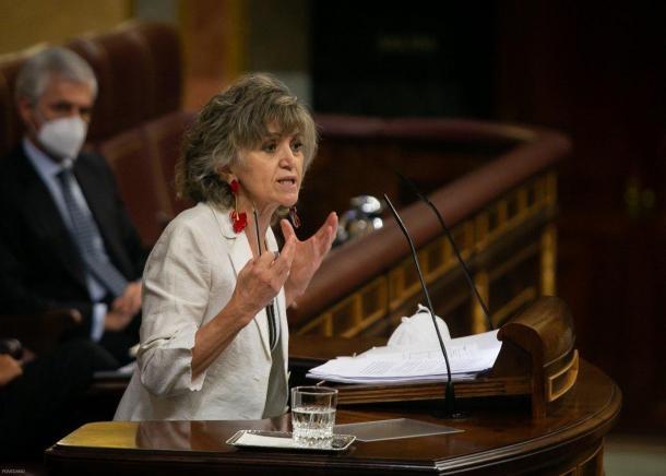La exministra de Sanidad socialista en el Congreso. Fuente: Twitter (@Congreso_Es)
