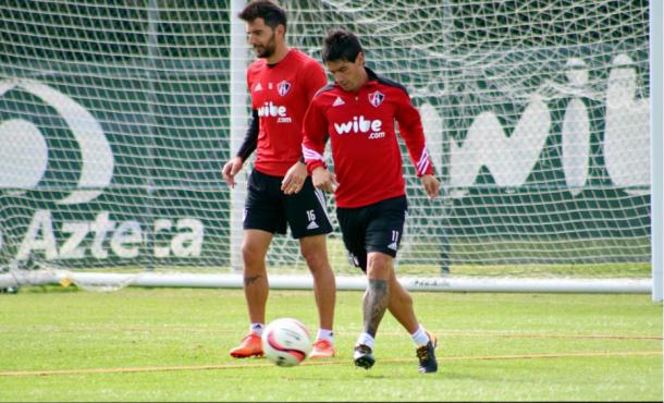 Alustiza en un entrenamiento. Fuente: Atlas FC.