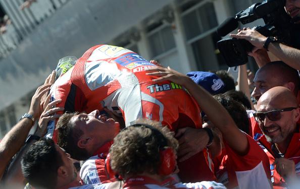 Iannone celebrates. | Image credit: Michel Cizak - AFP