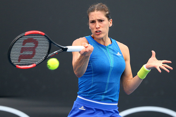 Andrea Petkovic, pictured in action against Kayla Day, must look to be aggressive in this match (Getty/Michael Dodge)