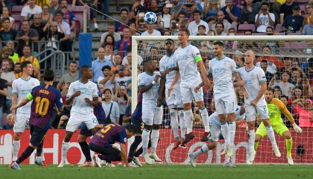 Postal del trio libre de Messi (Foto: Trome).