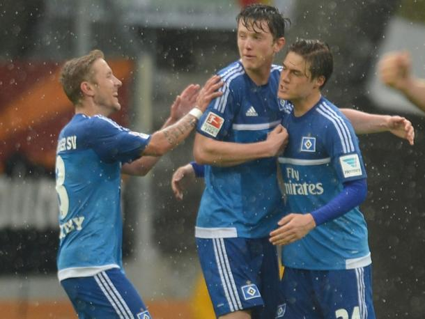 Gregoritsch celebrates his equaliser. | Image source: kicker - Getty Images