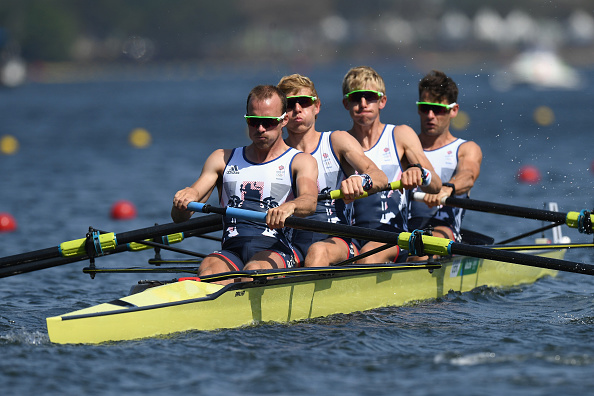 The Great British Lightweight Four sqaud in action today (Getty/Matthias Hangst)