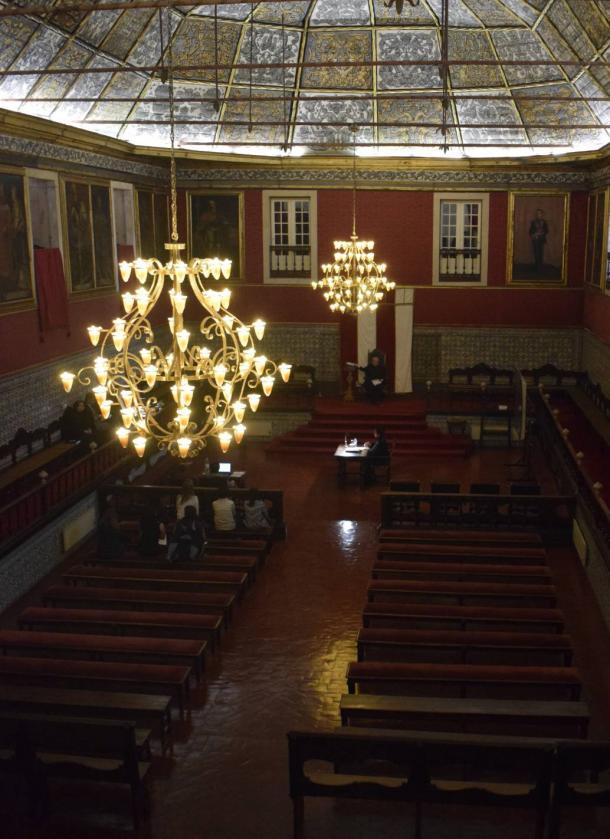 Sala dos capelos en Universidade Coimbra | Foto: Lucía Blázquez