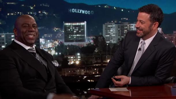 Magic Johnson on Jimmy Kimmel Live. Credit: YouTube/Jimmy Kimmel Live