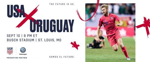 Cartel oficial del amistoso entre Estados Unidos y Uruguay | Foto: US Soccer