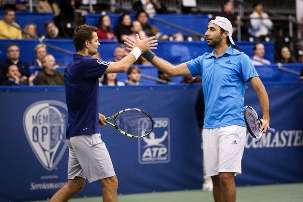 Mariusz Fyrstenberg (left) and Santiago Gonzalez (Photo: Memphis Open)