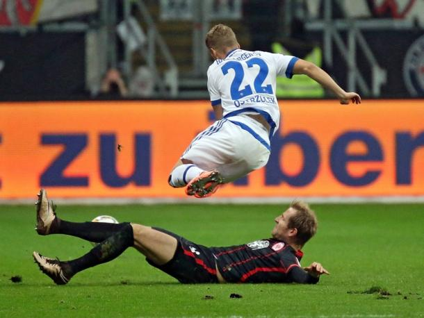 It was a battle from start to finish at the Commerzbank Arena. | Image source: kicker - imago