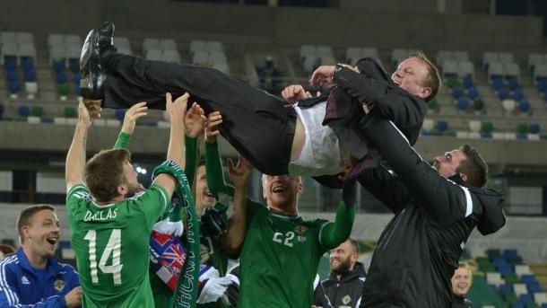 Northern Ireland celebrate. | Image source: Sky Sports