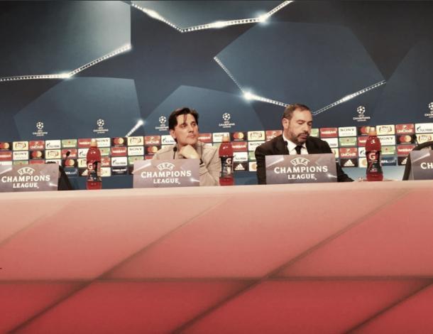 El entrenador italiano, previo al partido ante el Bayern | Foto: @SevillaFC