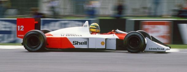 McLaren MP4-4 que condujeron Ayrton Senna (en imagen) y Alain Prost en 1988 | Fuente: McLaren
