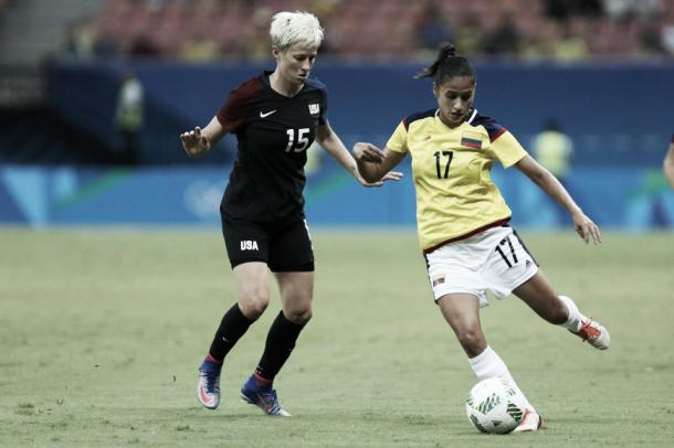 Rapinoe gets her first minutes at the Olympics   Source: Michael Dantas/AP