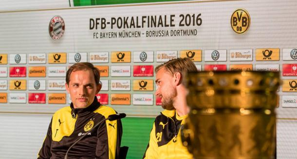 Marcel Schmelzer place in the pre-match press conference looks to have set the rumour mill in motion that he will be captain next season. | Image source: BVB.de